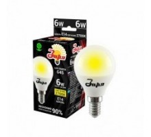 Лампа светодиодная ST G45 6Вт 2700К 360Лм Е14 шар ЗАРЯ