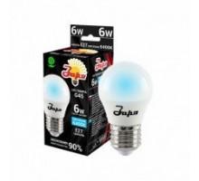 Лампа светодиодная ST G45 6Вт 6400К 360Лм Е27 шар ЗАРЯ