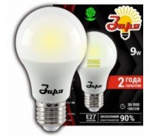 Лампа светодиодная А60 стандарт 9Вт 4200К 720Лм Е27 груша, ТМ ЗАРЯ