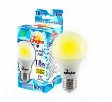Лампа светодиодная А60 эконом 18Вт 2700К 1050Лм Е27 груша, ЗАРЯ