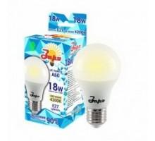 Лампа светодиодная А60 эконом 18Вт 4200К 1050Лм Е27 груша, ТМ ЗАРЯ