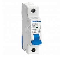 Автоматический выключатель NB1-63H 1P 63A 10кА х-ка C (R) (CHINT)