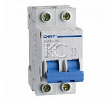 Автоматический выключатель DZ47-60 2P 63A 4,5KA х-ка C (CHINT)