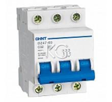 Автоматический выключатель DZ47-60 3P 10A 4,5KA х-ка C (CHINT)