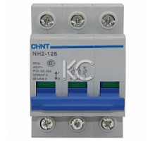 Выключатель нагрузки NH2-125 3P 63A (CHINT)