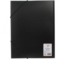Папка с резинкой А4, 1мм, 500мкм, OfficeSpace черная