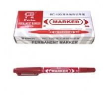 Маркер красный перманентный двухстроронний 0,5-1мм ВУ-585 1 мм