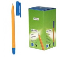 Ручка шарик. РС11 РШ-111 ЖЕЛТ.СТАММ/ оранж. корпус, синяя паста 135мм