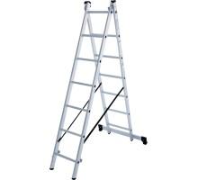 Лестница алюминиевая двухсекционная 2х7 ступеней NV 122 Новая высота