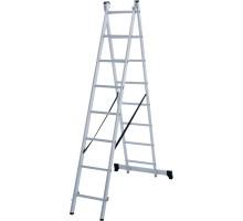 Лестница алюминиевая двухсекционная 2х8 ступеней NV 122 Новая высота