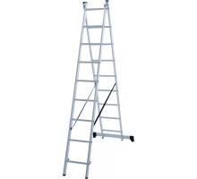 Лестница алюминиевая двухсекционная 2х9 ступеней NV 122 Новая высота