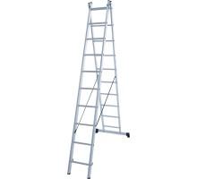 Лестница алюминиевая двухсекционная 2х10 ступеней NV 122 Новая высота