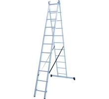 Лестница алюминиевая двухсекционная 2х11 ступеней NV 122 Новая высота