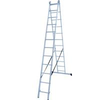 Лестница алюминиевая двухсекционная 2х13 ступеней NV 122 Новая высота