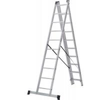 Лестница алюминиевая трёхсекционная 3х10 ступеней NV 123 Новая высота