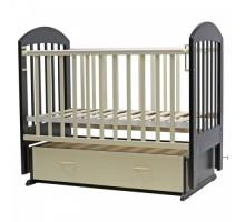 Кровать детская (арт. 03) 120*60 'ДАРИНА'-6 маятн/ящ ,автостенка,накладка силик. (венге-ваниль,белая,вишня,орех-карамель,слон.кость,венге)