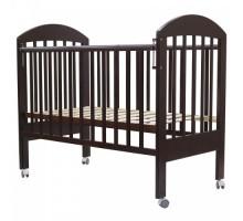 Кровать детская (арт.33) 120*60 'ДАРИНА'-1 колесо ,автостенка,накладка силик.(вишня,орех-карамель,белый,венге-слон.кость,венге,слон.кость)