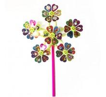 Игрушка Волшебная палочка ВЕТЕРОК мультяшки на цветах 45 см