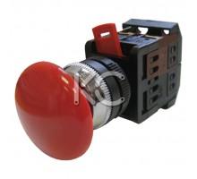 Кнопка АЕА-22 (Грибок красный,  1з+1р)