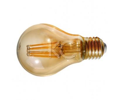 Лампа светодиодная (стекло.VINTAGE) A60-7W-2200K-E27