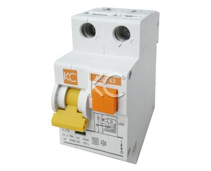 Дифференциальный автомат АВДТ-63/ДА-8 2р С 25А/30мА