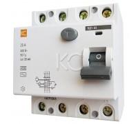Дифференциальный выключатель (УЗО) ВД1-63 4р С 25А/30мА