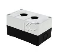 Корпус КП 102 для кнопок 2 места (белый)