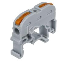 Строительно-монтажная клемма (проходная) на DIN-рейку СМК-211 (2,5мм2)