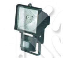 Прожектор галогенный ИО 500Д (детектор,черный IP44)
