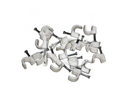Пластиковые скобы для кабеля 10 (круглые) (50)
