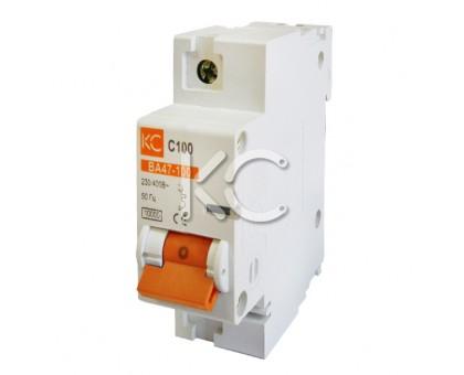 Автоматический выключатель ВА 47-100 (16А 1р С)