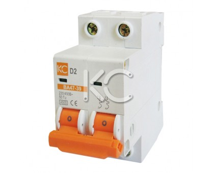 Автоматический выключатель ВА 47-39  (5А 2р D)
