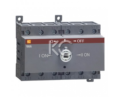 Блок-разъединитель БР-17-ОТЕ-100А-3р реверсивный c рукояткой для прямой установки