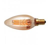 Лампа светодиодная (стекло.VINTAGE) C35-4W-2200K-E14
