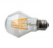 Лампа светодиодная (стекло VINTAGE RHOMBUS) A60-8W-2200K-E27