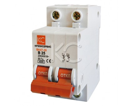 Автоматический выключатель ВА 47-39 ( 10А 2р В)
