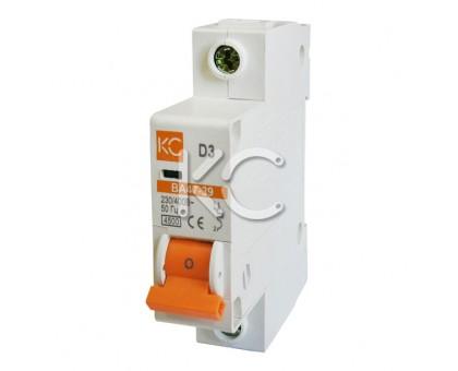 Автоматический выключатель ВА 47-39  (2А 1р D)