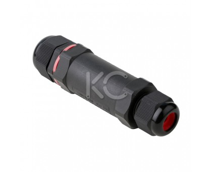 Кабельный коннектор CB3 I-образный, 1,0-4,0 мм2, 25А (клеммник 3PIN) IP68