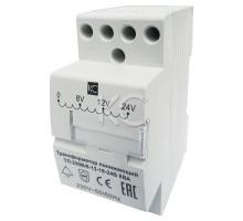 Трансформатор понижающий ТП-230В/8-12-16-24В 8ВА DIN-рейка