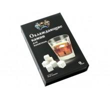 005-CR Охлаждающие камни для виски 9 шт. белая керамика