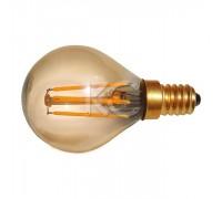 Лампа светодиодная (стекло.VINTAGE) G45-4W-2200K-E14