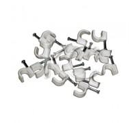 Пластиковые скобы для кабеля 9 (круглые) (50)