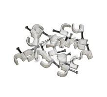 Пластиковые скобы для кабеля 12 (круглые) (50)