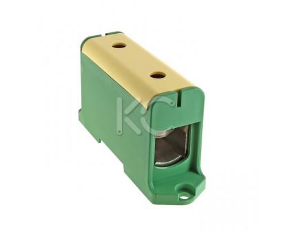 Клемма вводная силовая КВС 35-240 желто-зеленая