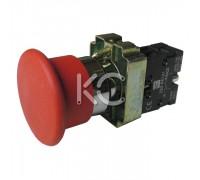 Кнопка LAY5-BC42 (Грибок красный, 1з)