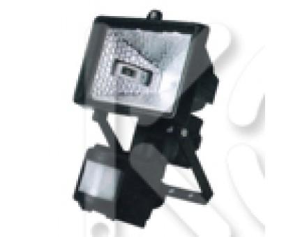 Прожектор галогенный ИО 150Д (детектор,черный IP44)