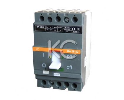 Автоматический выключатель ВА 58-32 (  50А 3р 35кА  )