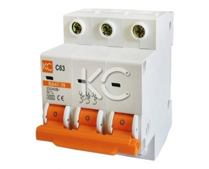 Автоматический выключатель ВА 47-39 (10А 3р С)
