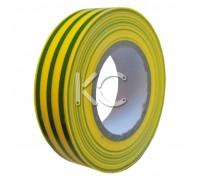 Изолента ПХВ 0,13х19ммх20м желто-зеленая