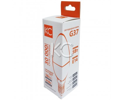 Лампа светодиодная G37-5W-4000K-E14